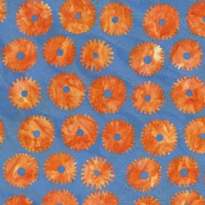 Kaffe Fassett Artisan Batik Saw Circles Orange - Per Quarter Metre